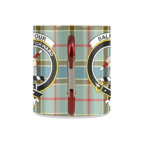 Image of Balfour Blue  Tartan Mug Classic Insulated - Clan Badge K7