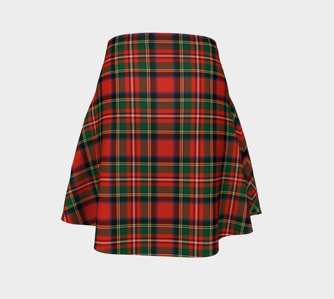 Tartan Flared Skirt - Stewart Royal Modern