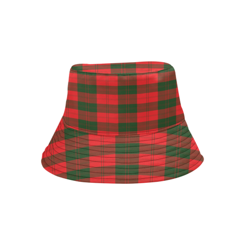Erskine Modern Tartan Bucket Hat for Women and Men K7
