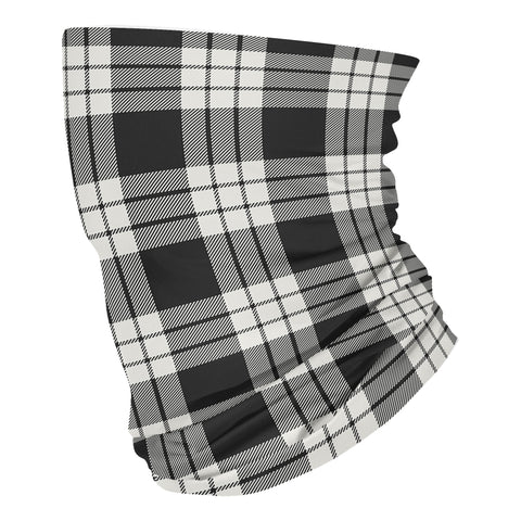 Scottish MacFarlane Black & White Ancient Tartan Neck Gaiter HJ4 (USA Shipping Line)