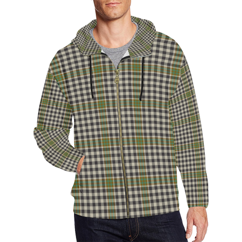 Burns Check Tartan Zipped Hoodie | Special Custom Products