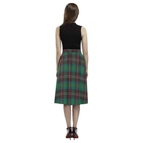 Chisholm Hunting Ancient Tartan Aoede Crepe Skirt | Exclusive Over 500 Tartan