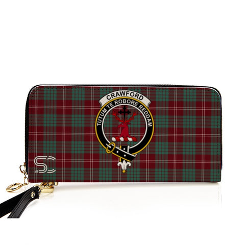 Image of Crawford Ancient Crest Tartan Zipper Wallet