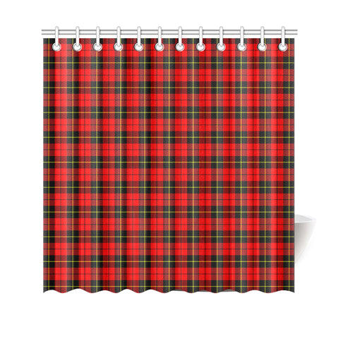 Tartan Shower Curtain - Wallace Hunting - Red A9