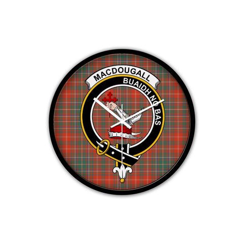 MacDougall Ancient Crest Tartan Wall Clock