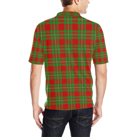 Macgregor Modern Tartan Clan Badge Polo Shirt HJ4