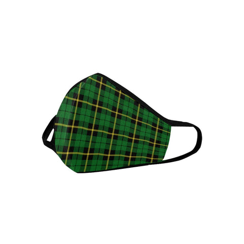 Wallace Hunting - Green Tartan Mouth Mask With Filter | scottishclans.co