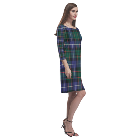 Mactaggart Ancient Tartan Dress - Rhea Loose Round Neck Dress TH8