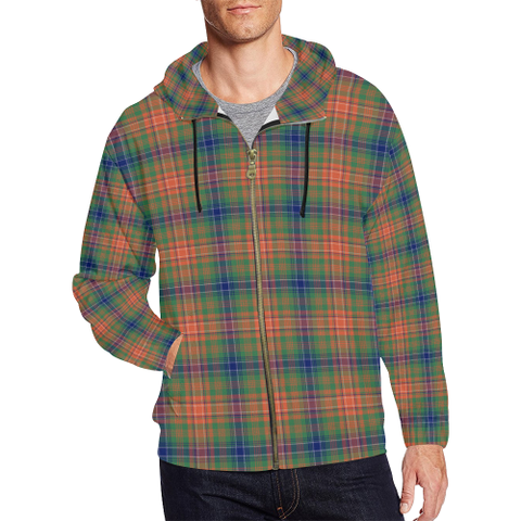 Wilson Ancient Tartan Zipped Hoodie | Special Custom Products