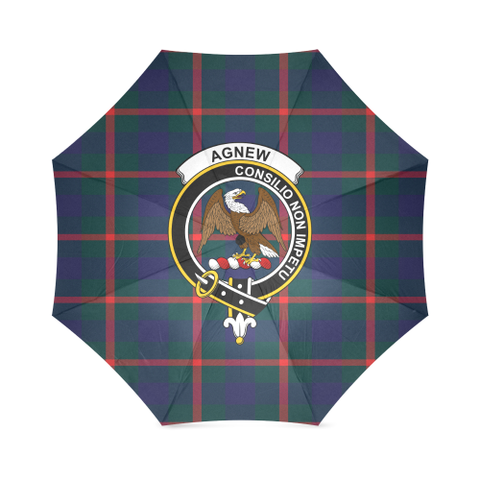 Agnew Modern Crest Tartan Umbrella TH8