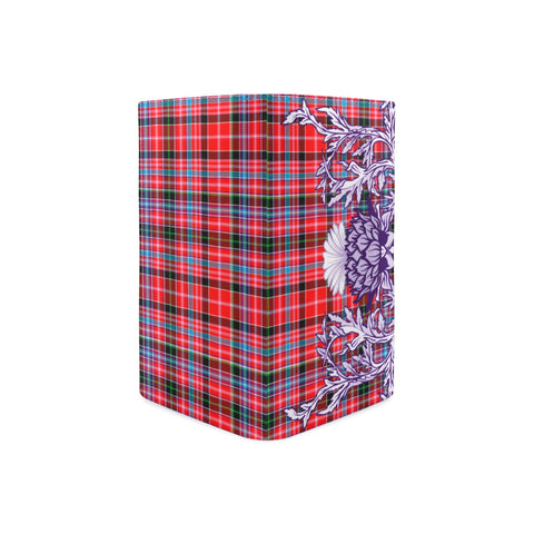 Image of Aberdeen District Tartan Wallet Women's Leather Thistle A91