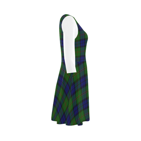 Dundas Modern Tartan 3/4 Sleeve Sundress | Exclusive Over 500 Clans