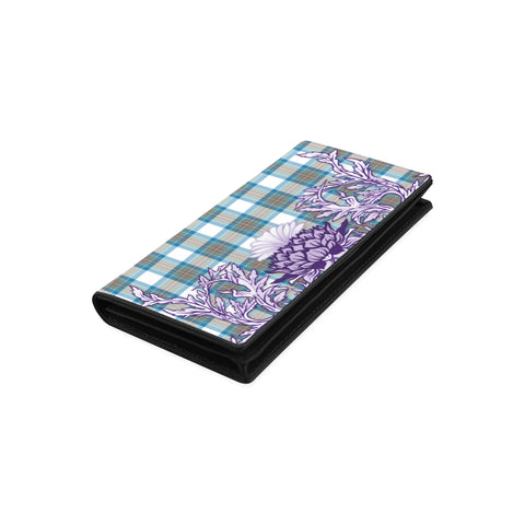 Stewart Muted Blue Tartan Wallet Women's Leather Wallet A91 | Over 500 Tartan