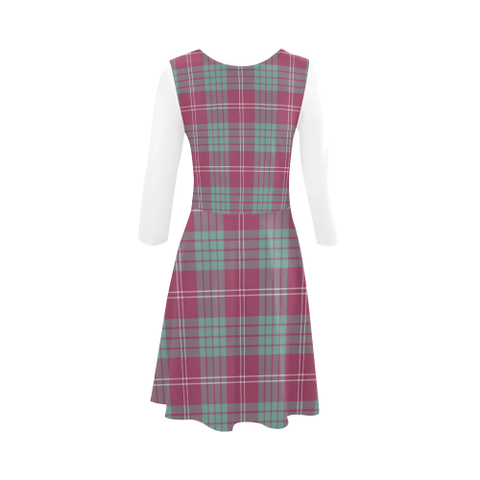Image of Crawford Ancient Tartan 3/4 Sleeve Sundress | Exclusive Over 500 Clans