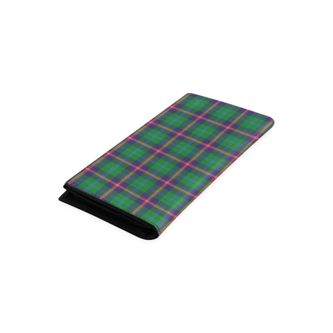 Young Modern Tartan Wallet Women's Leather Thistle A91