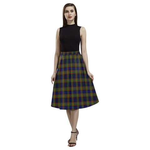 Clelland Modern Tartan Aoede Crepe Skirt | Exclusive Over 500 Tartan