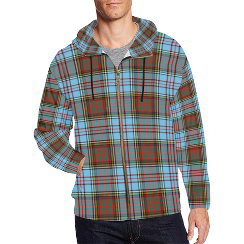 Anderson Ancient Tartan Zipped Hoodie | Special Custom Products
