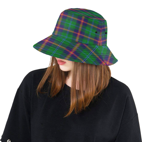 Image of Young Modern Tartan Bucket Hat for Women and Men K7