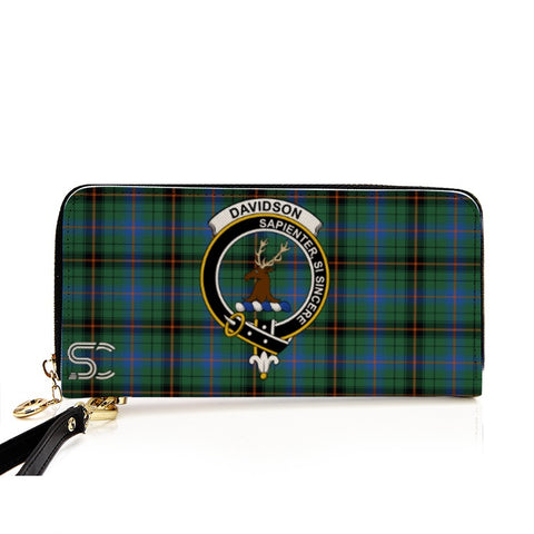 Davidson Ancient Crest Tartan Zipper Wallet