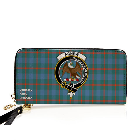 Image of Agnew Crest Tartan Zipper Wallet