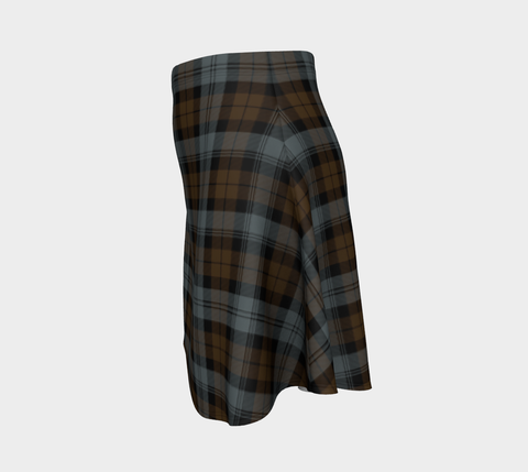 Tartan Flared Skirt - BlackWatch Weathered A9