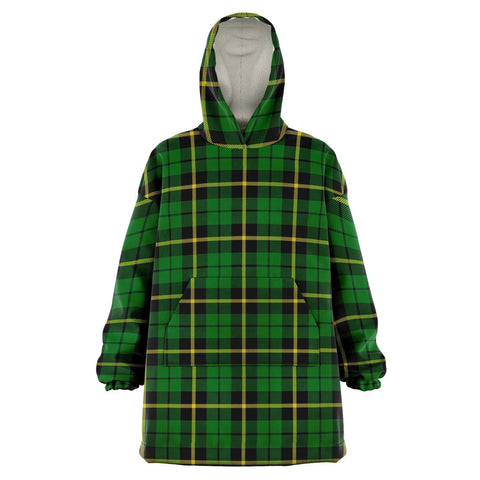 Wallace Hunting - Green Snug Hoodie - Unisex Tartan Plaid Front