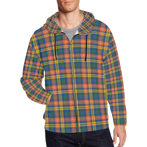 Buchanan Ancient Tartan Zipped Hoodie | Special Custom Products