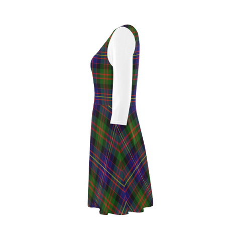 Image of Cameron of Erracht Modern Tartan 3/4 Sleeve Sundress | Exclusive Over 500 Clans