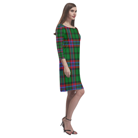 Mcgeachie Tartan Dress - Rhea Loose Round Neck Dress TH8