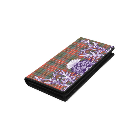 MacPherson Weathered Tartan Wallet Women's Leather Wallet A91 | Over 500 Tartan