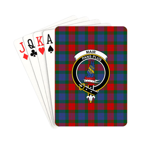 Mar Tartan Clan Badge Playing Card | scottishclans.co