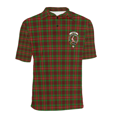 Ainslie Tartan Clan Badge Polo Shirt HJ4