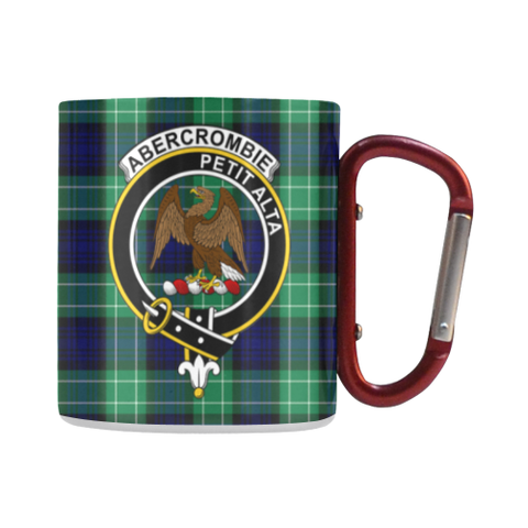 Abercrombie Tartan Mug Classic Insulated - Clan Badge | scottishclans.co