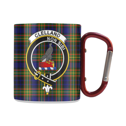 Clelland Modern  Tartan Mug Classic Insulated - Clan Badge | scottishclans.co
