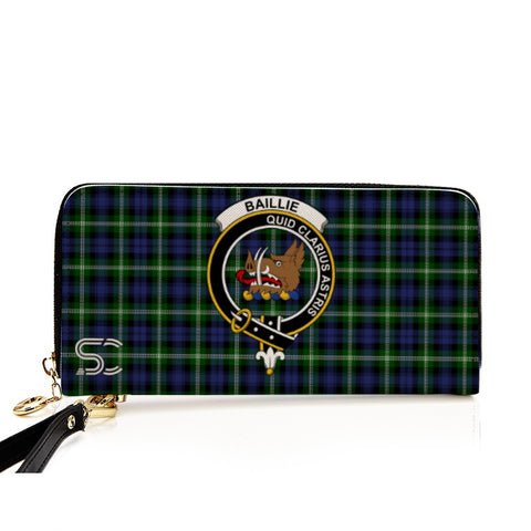 Image of Baillie Modern Crest Tartan Zipper Wallet