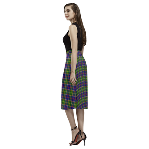 Image of Ayrshire District  Tartan Aoede Crepe Skirt | Exclusive Over 500 Tartan