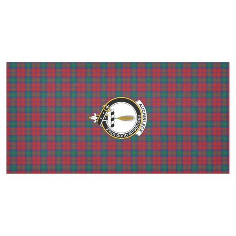Image of Auchinleck Crest Tartan Tablecloth | Home Decor