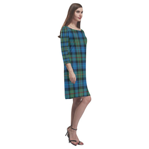 Image of Smith Ancient Tartan Dress - Rhea Loose Round Neck Dress TH8