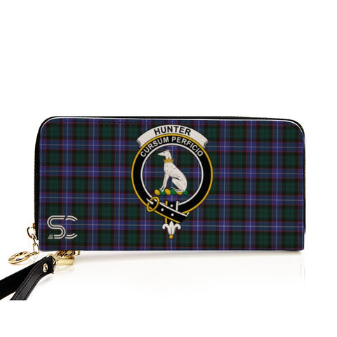 Hunter Modern Crest Tartan Zipper Wallet