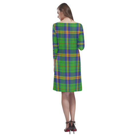 Tartan dresses - New Mexico Tartan Dress - Round Neck Dress TH8