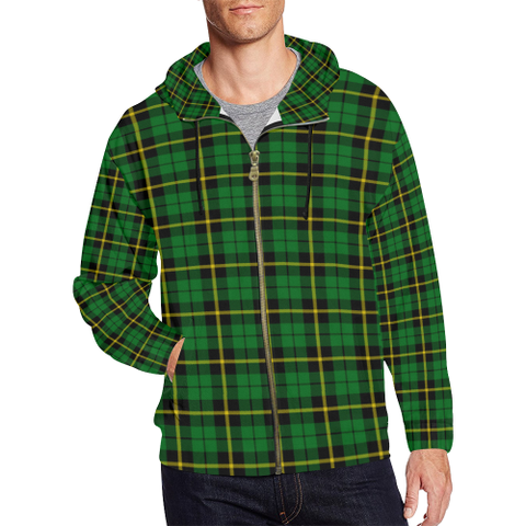 Wallace Hunting - Green Tartan Zipped Hoodie | Special Custom Products