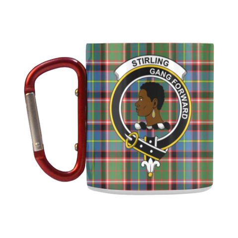 Stirling (Of Keir) Tartan Mug Classic Insulated - Clan Badge K7