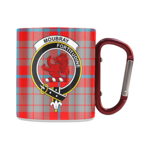 Moubray Tartan Mug Classic Insulated - Clan Badge | scottishclans.co