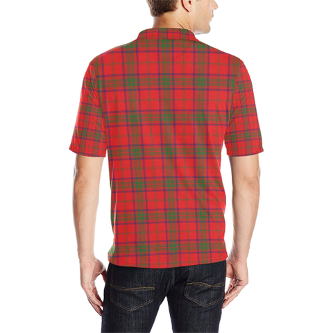 Ross Modern Tartan Clan Badge Polo Shirt HJ4