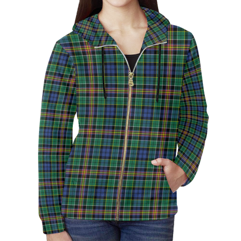 Allison Tartan Zipped Hoodie | Special Custom Products