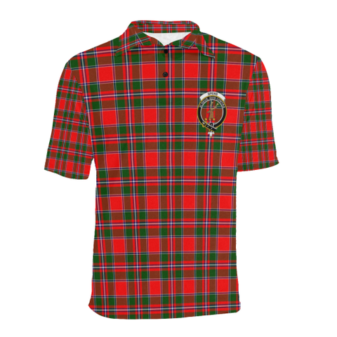 Spens Modern Tartan Clan Badge Polo Shirt HJ4