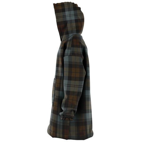 BlackWatch Weathered Snug Hoodie - Unisex Tartan Plaid Left