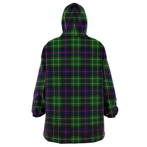 Leslie Hunting Snug Hoodie - Unisex Tartan Plaid Back