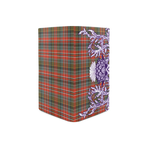 MacPherson Weathered Tartan Wallet Women's Leather Thistle A91