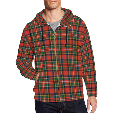 Stewart Royal Modern Tartan Zipped Hoodie | Special Custom Products
